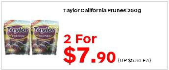 Taylor California Prunes 250g 2for790
